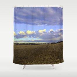 Farm Fields In Frederick Maryland In Winter Shower Curtain