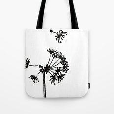 Dandelion Drawing Tote Bag