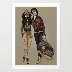 Floral Couple Art Print