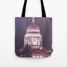 Idaho Capital Building at Night Tote Bag