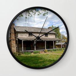 Prairie Grove Battlefield - The Latta Homestead, Established in 1834, No. 2 of 5 Wall Clock
