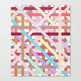 Structural Weaving Lines Canvas Print