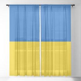 Flag of Ukraine Sheer Curtain