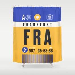 Luggage Tag A - FRA Frankfurt Germany Shower Curtain