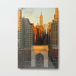Sunset over Washington Square Park Metal Print