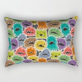 Monster Virus Pattern Rectangular Pillow
