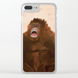 I only saw rainbows when the bandages came off/ Orangutan Clear iPhone Case