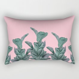 Rubber trees with pink Rectangular Pillow