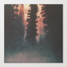 Smokey Forest Canvas Print