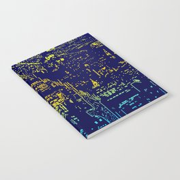 Chicago city lights at night Notebook
