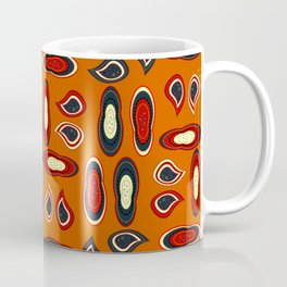 Orange paisley Coffee Mug