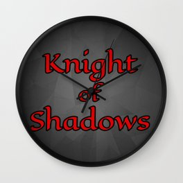 Knight of Shadows Wall Clock