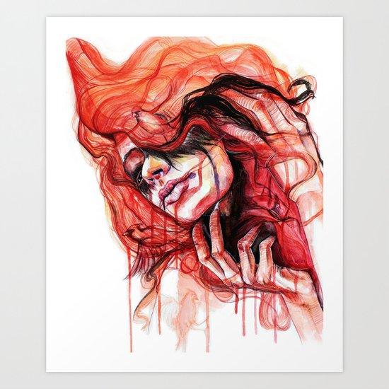 Metamorphosis-cardinal bird Art Print
