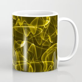 Lots of luxurious golden smoke and luminous lines in iridescent style. Coffee Mug