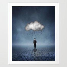 I like to Walk in the Rain, So No One Can See me Cry Art Print