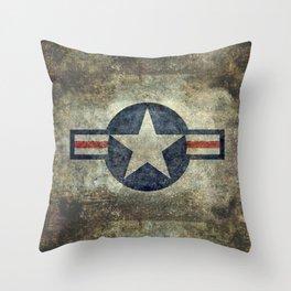 Vintage USAF Roundel #2 Throw Pillow