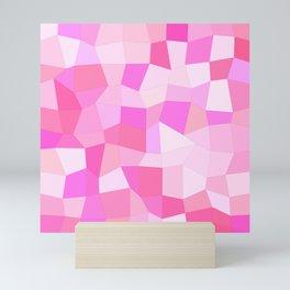 Bright Pink Mosaic Mini Art Print