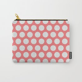 Peach Dots Carry-All Pouch