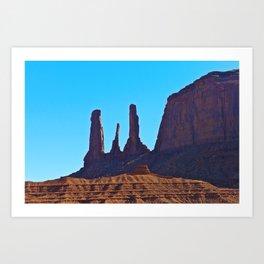 Blue Sky & Rock Art Print