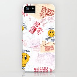 Thank You Take-Out (pattern 1) iPhone Case