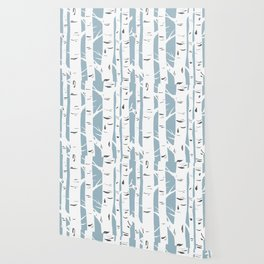 Blue Birches Wallpaper