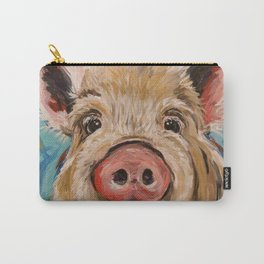"Pig Art ""Octavia"" pig painting Carry-All Pouch"