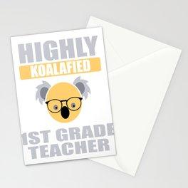 Highly Koalafied 1st Grade Teacher print Stationery Cards