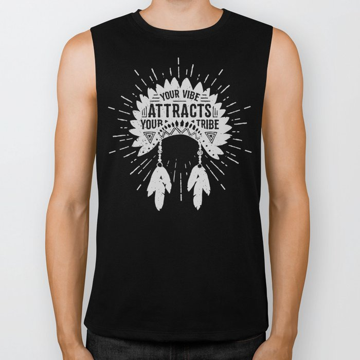 Your Vibe Attracts Your Tribe - Pacific Ocean Biker Tank
