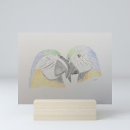 Parrot love Mini Art Print