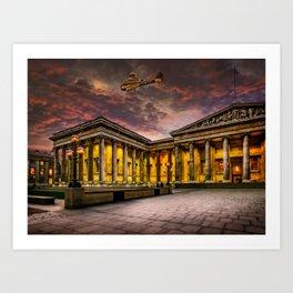 Bristol Blenheim Over The British Museum London Art Print