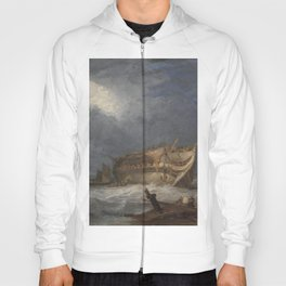 Samuel Prout - The Wreck of the Dutton, An East Indiaman Hoody