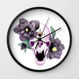 Vampire Bat Skull Wall Clock