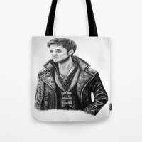 captain hook Tote Bags featuring Captain Hook by Olivia Nicholls-Bates