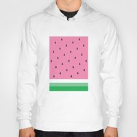 watermelon Hoodies featuring Watermelon by Anna Lindner