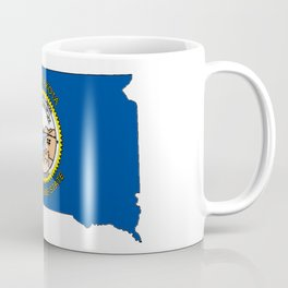 South Dakota Map with State Flag Coffee Mug
