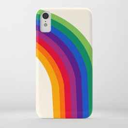 Groovy - rainbow 70s 1970s style retro throwback minimal happy hippie art decor iPhone Case