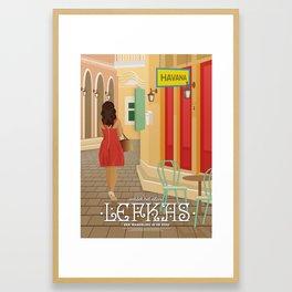 Lefkada, A walk in the city (GR) Framed Art Print