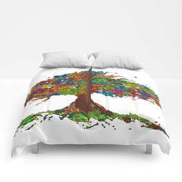 The Stained Glass Tree Comforters
