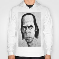 nick cave Hoodies featuring Nick Cave by Mr Shins