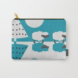 White sheep in a blue world Carry-All Pouch
