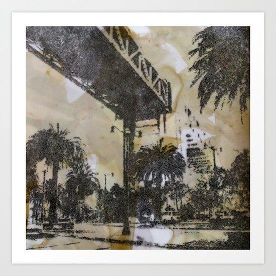 The Embarcadero on mylar  Art Print