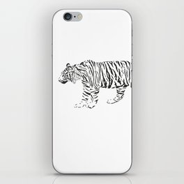 Tiger - black and white vector iPhone Skin