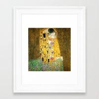 gustav klimt Framed Art Prints featuring Gustav Klimt The Kiss by Art Gallery