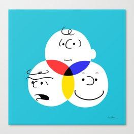 Charlie Brown, colour wheel Canvas Print