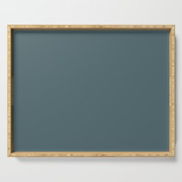 Muted Blue Green Serving Tray