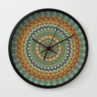 the 100 Wall Clocks featuring Mandala 100 by Patterns of Life