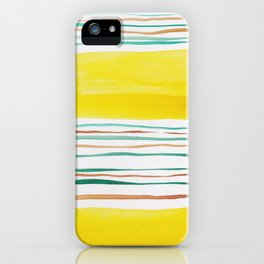 13  |181026 Lines & Color Block | Watercolor Abstract | Modern Watercolor Art iPhone Case