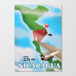nicaragua travel poster Canvas Print