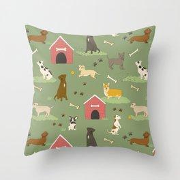 Dog Days Throw Pillow