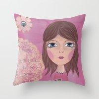 courage Throw Pillows featuring Courage by ArtByBeata